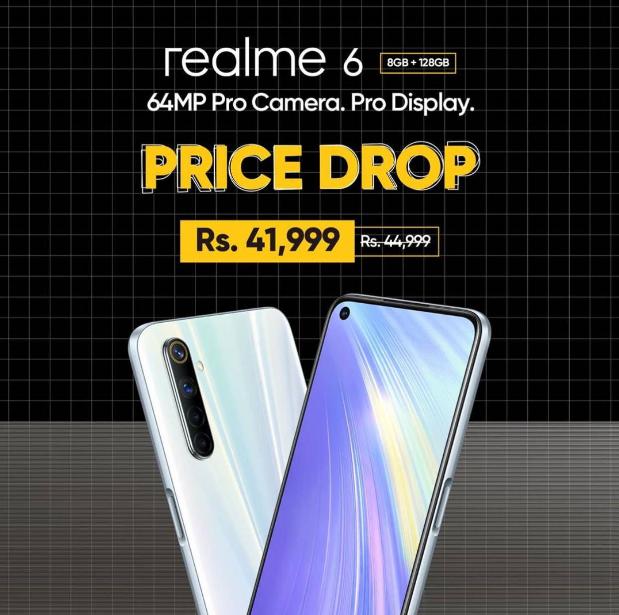 Realme 6 is now offered at Rs 41,999